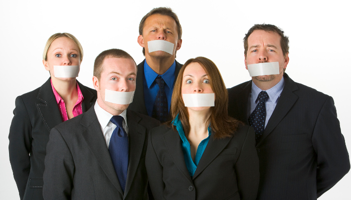 Tape Gagged Employees