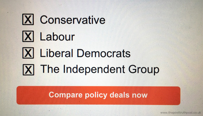 Political Party Price Comparison
