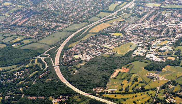 M25 from the air