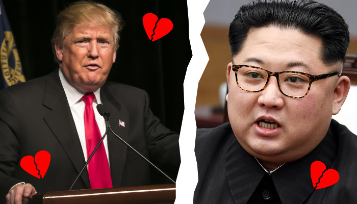 Trump and Kim split