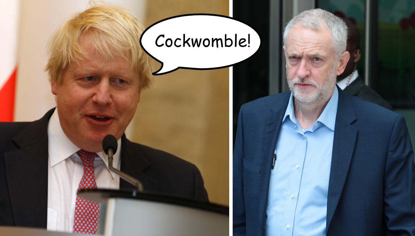 Johnson Corbyn Cockwomble