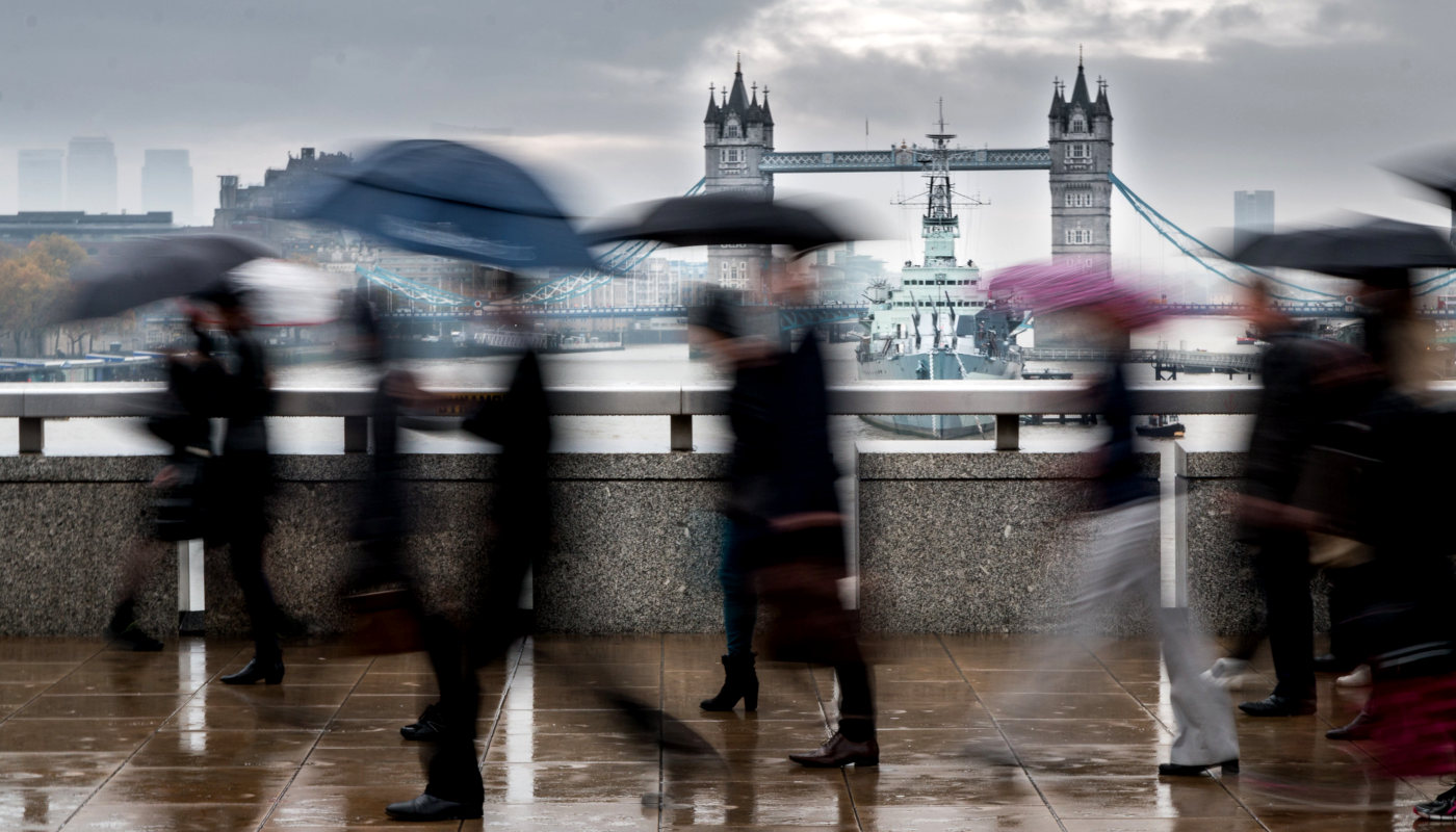 Rain London Bridge