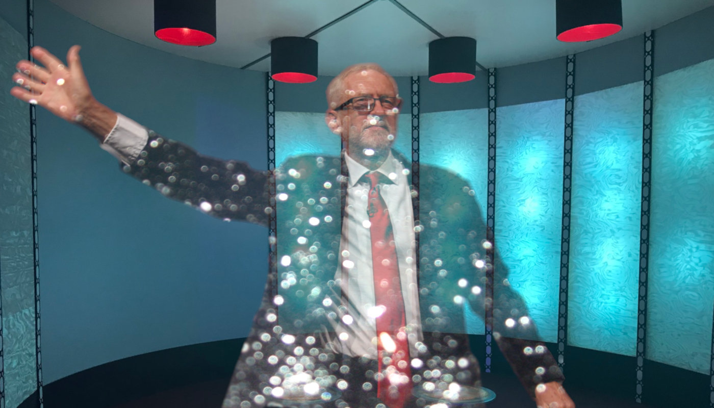 Jeremy Corbyn in the transporter room