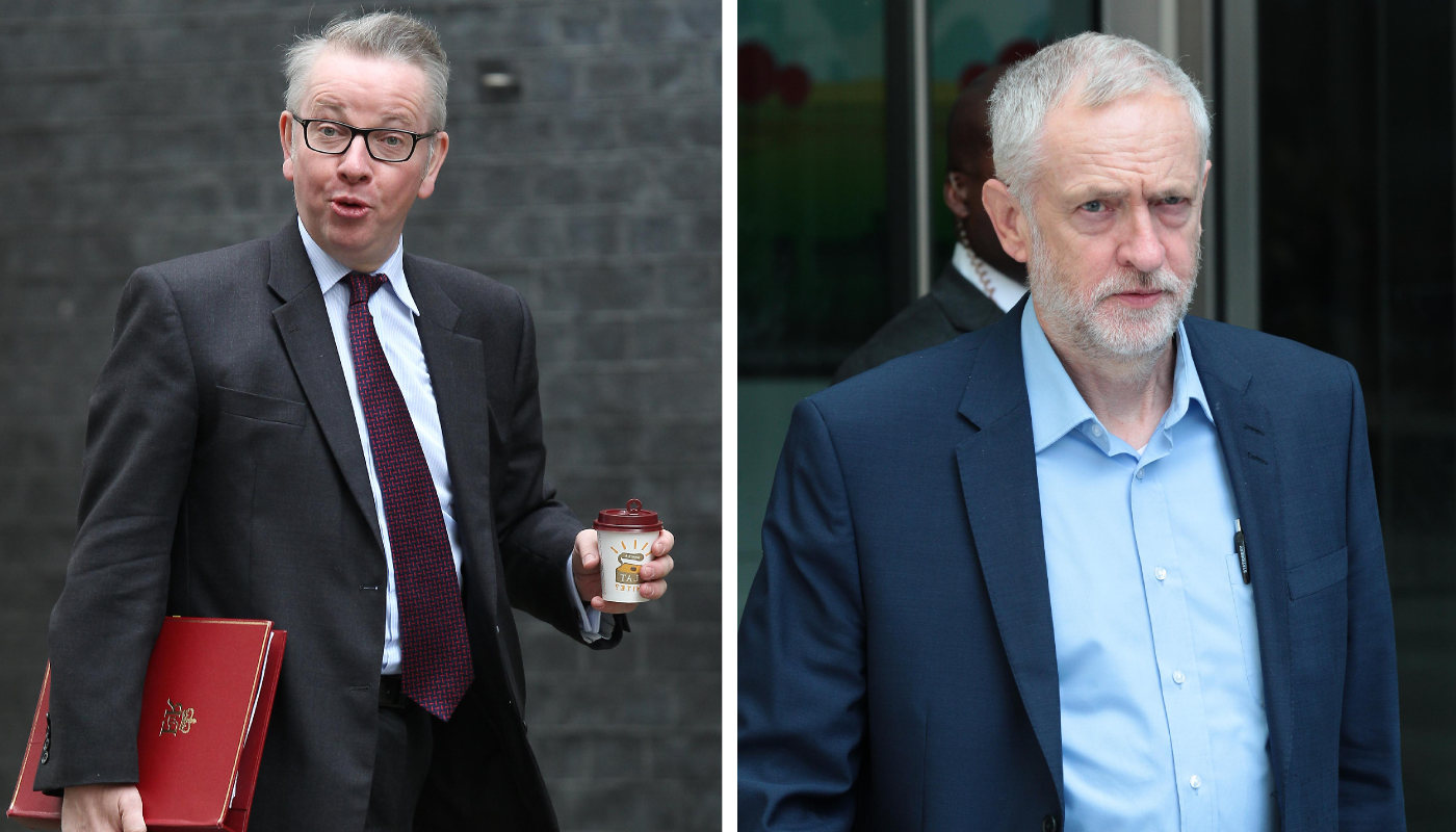 Michael Gove vs Jeremy Corbyn