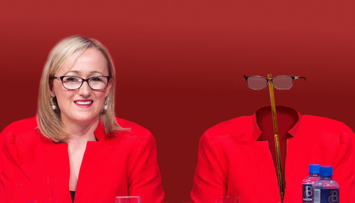 Rebecca Long-Bailey's Jacket and Glasses